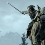 Combate a caballo en Skyrim