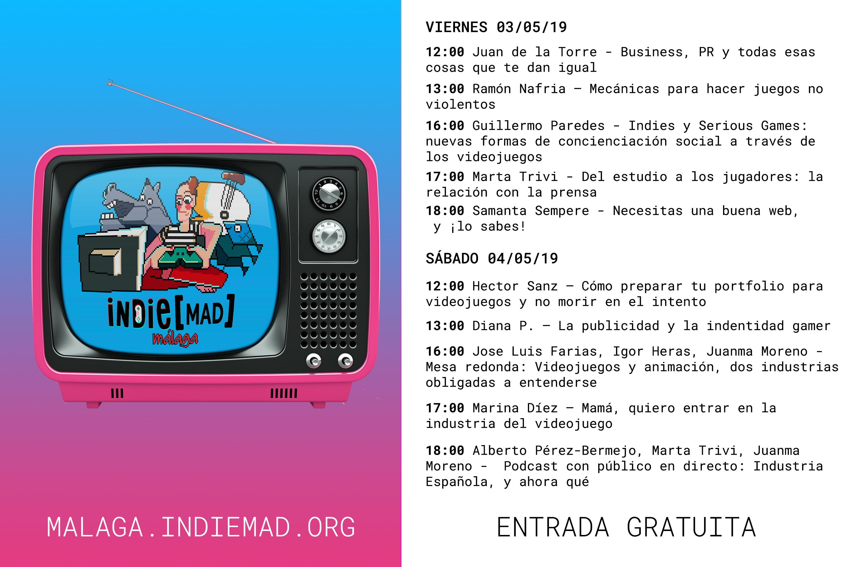 Indie[MAD] Málaga Programa
